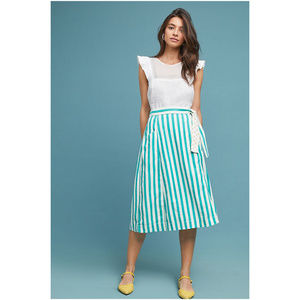 Anthropologie Maeve Market Wrap Striped Skirt XS